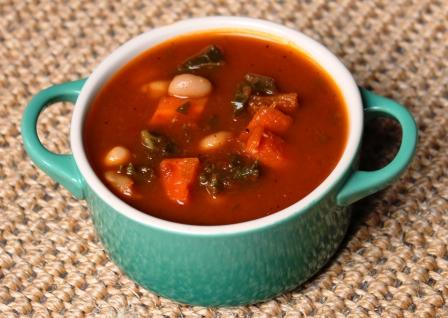 Kale and Roasted Vegetable Soup - Really Healthy Foods ...