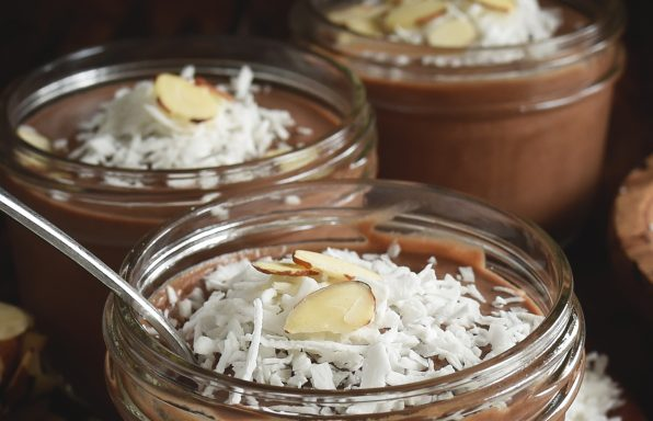 Chocolate Almond Avocado Pudding