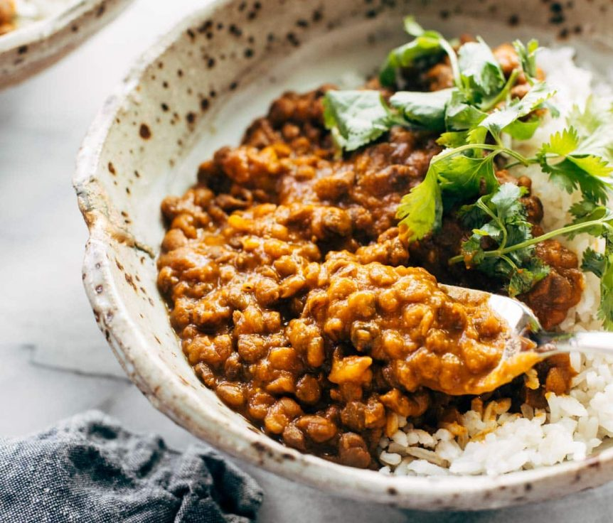 Instant Pot Red Curry Lentils