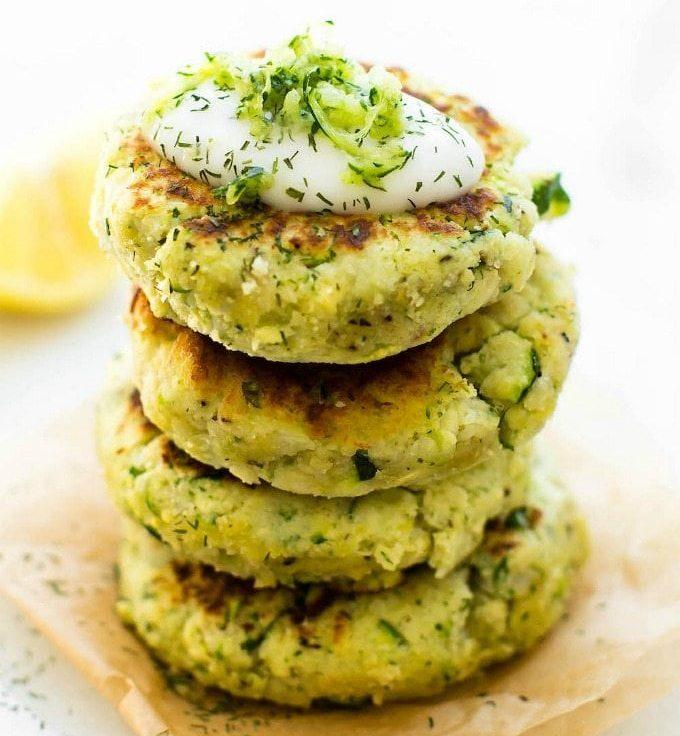 Zucchini Cauliflower Fritters (Paleo, Vegan Keto Veggie Burgers)