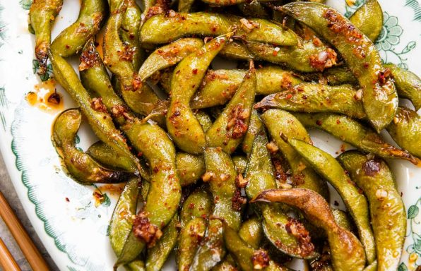 Spicy Roasted Edamame Beans