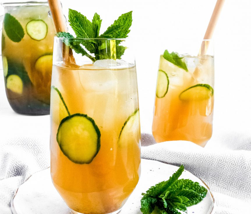 Peppermint and Cucumber Iced Tea