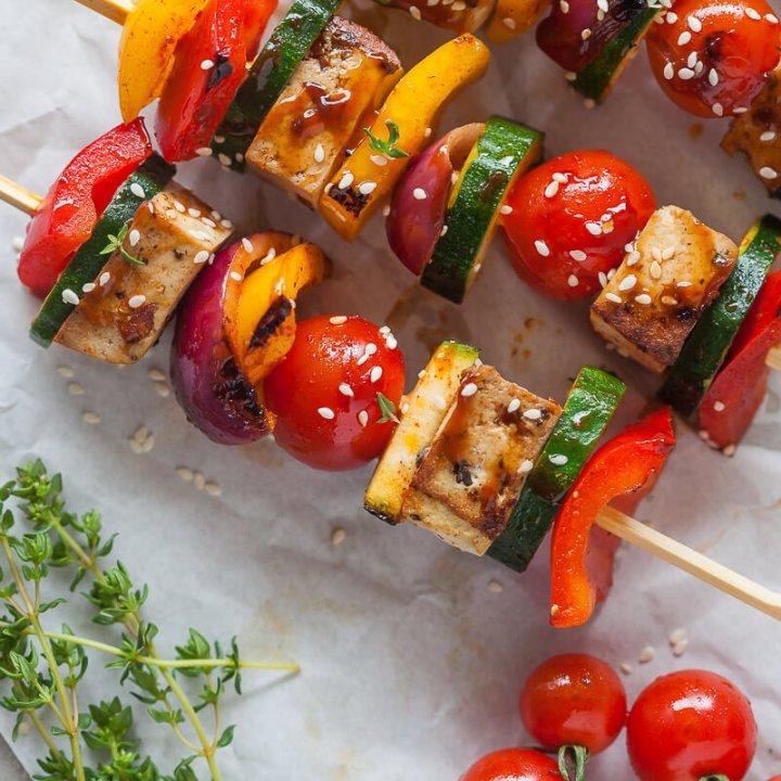Vegan Grilled Tofu Skewers