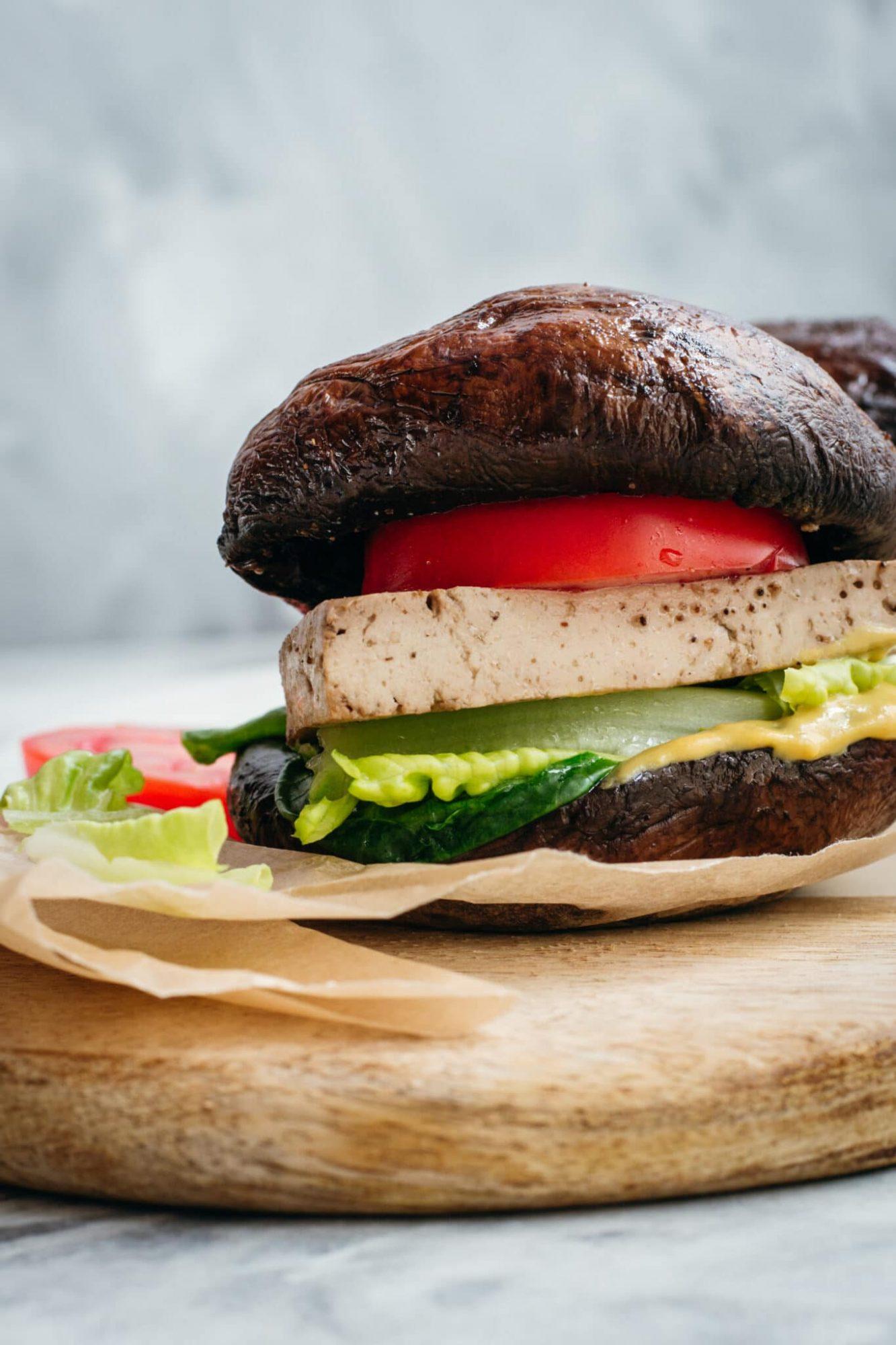 Vegan Keto Portobello Mushroom Burger