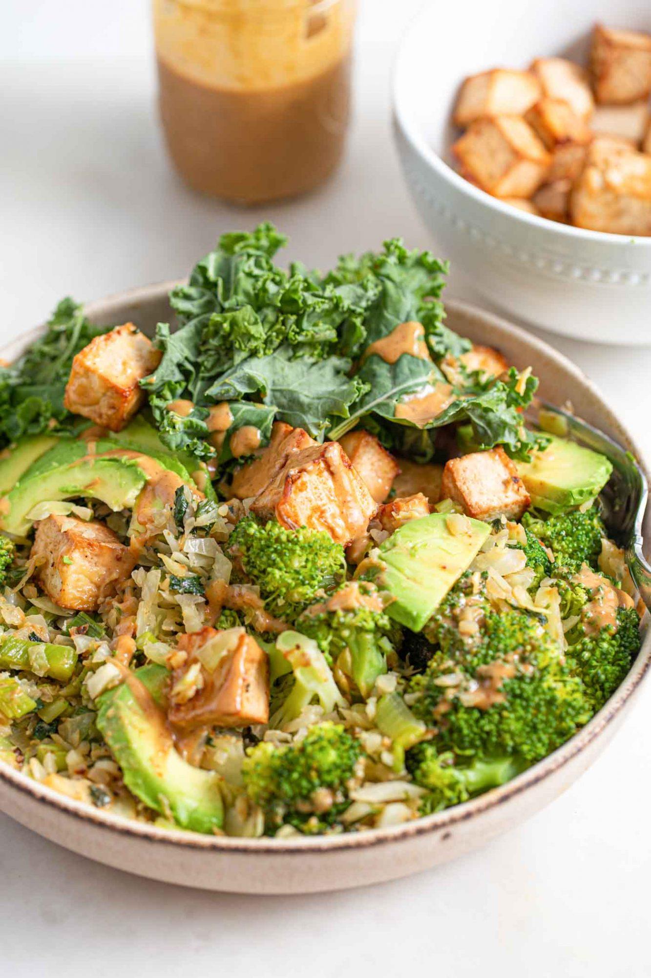 Vegan Low Carb Dinner Bowl